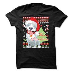 Merry Christmas - Pitbull - #funny gift #couple gift. OBTAIN LOWEST PRICE => https://www.sunfrog.com/Pets/Merry-Christmas--Pitbull.html?68278