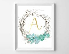 Twig and succulents come together to create these gorgeous free printables. Use as home decor, wall art or give as a gift!  More and more, I am drawn to simpler, more understated decor and ac…