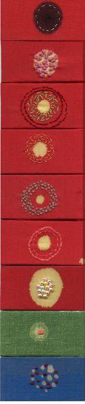 artist cecile dachary's 'autour de la tache' embroidered patches.