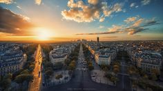 Golden hour in Paris