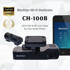 BlackSys CH-100B 2 Channel 1080P FULL HD Front and Rear Pro Wide Angle Dashboard Recorder | Dash Cam With G-Sensor + Up to 128gb Memory | Car Parking Mode | Wifi App at http://caraccessoriesonlineshopping.com/index.php/product/blacksys-ch-100b-2-channel-1080p-full-hd-fron/