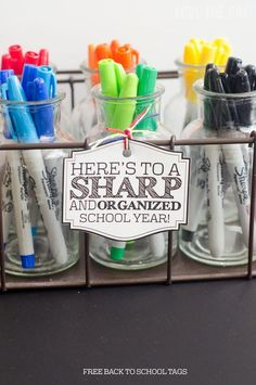 Back To School Teacher Gifts & FREE Printable by Love The Day
