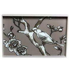 DwellStudio Vintage Blossom Rectangle Wood Tray