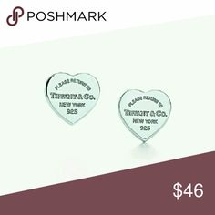 Tiffany Earrings silver heart 925 Beautiful Tiffany stud earrings. Tiffany & Co. Jewelry Earrings