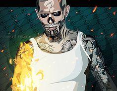 Vean más de cerca la #ilustracion #vectorial #bymart1 que realizamos de #Diablo uno de los personajes principales de la película #SuicideSquad que está pronto a estrenarse en los cines http://be.net/gallery/41194681/Diablo-from-Suicide-Squad-like-as-Bym-Art
