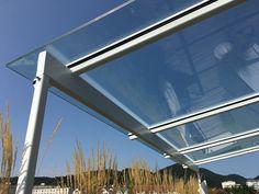 Glasüberdachung mit Stahlträgerkonstruktion Design Technik MS Wind Turbine, Design, Glass Roof, Steel, Garten, House, Ideas, Design Comics