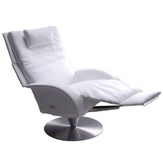 Bon The Victoria Recliner By Lafer Is A Leather Recliner With A One Leg Full  Swivel