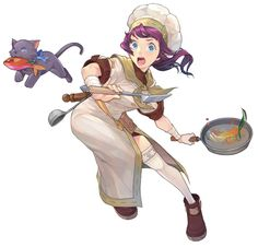 Chef Female - Characters & Art - Lime Odyssey: The Chronicles of Orta