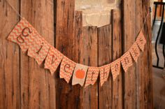 SHIPS TODAY Give Thanks CHEVRON burlap banner by LylaDee on Etsy, $18.00