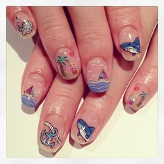 Summer mix art nail