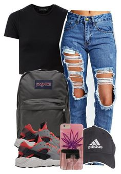 """5:6:15"" by codeineweeknds ❤ liked on Polyvore featuring Boohoo and JanSport"