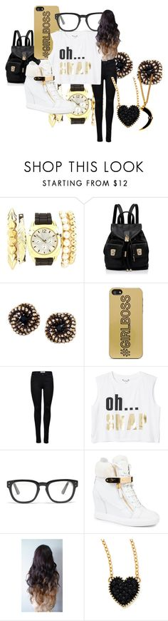 """""""black n gold"""" by minnieblasin ❤ liked on Polyvore featuring Charlotte Russe, Forever New, Miquella, Zero Gravity, ONLY, Monki, Madewell, Giuseppe Zanotti, Blonde + Blonde and Jules Smith"""