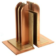 Art Deco Bookends by Walter Von Nessen for Chase | From a unique collection of antique and modern bookends at https://www.1stdibs.com/furniture/more-furniture-collectibles/bookends/