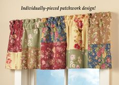 Floral Wildflower Patchwork Window Valance