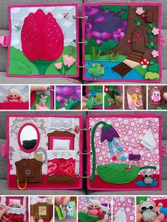 Quiet book Fairy for girl by MirzaCrafts on Etsy Quiet Book Patterns, Felt Quiet Books, Baby Fairy, Busy Book, Fairy Dust, Baby Play, Book Activities, Rainbow Colors, Kids Rugs