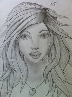 Sketch of a lady with shading <3 <3