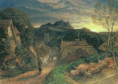 The Bellman by Samuel Palmer - The Bellman Painting - The Bellman Fine Art Prints and Posters for Sale