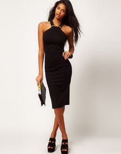 Love!!  ASOS Petite Exclusive Pencil Dress With Strap Detail