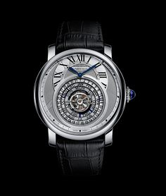 Cartier Rotonde de Cartier Astrocalendaire.  To-be presented at SIHH 2014.   It features a flying tourbillon surrounded by a unique perpetual calendar. The calendar is presented in three concentric circular displays, with the date on the outermost ring, the month in the center, and the day of the week on the inside. A flying tourbillon lies at the center of these displays.