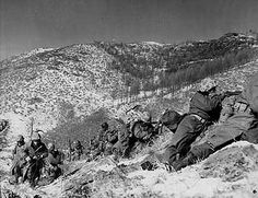 Chosin Reservoir, near Yalu river just before Chinese launch an attack in UN Lines during Korean War