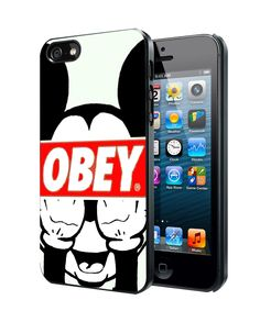 Mickey Mouse Obey Samsung Galaxy S3 S4 S5 S6 S6 Edge (Mini) Note 2 4 , LG G2 G3, HTC One X S M7 M8 M9 ,Sony Experia Z1 Z2 Case