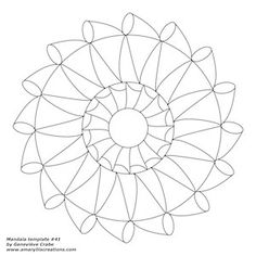 This is a preview of my mandala template. Full-size PDFs of all my templates are available here.