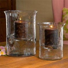 glass hurricane pillar candle holders - Google Search