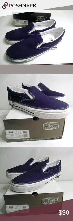 b65c10a73622 Zipz Men Jet Black Skater Tennis Shoes US 12 EU 46 Zipz Men Jet Black Skater