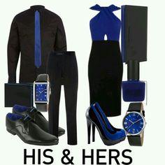Black and Royal Blue