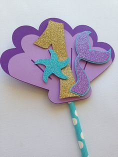 Your place to buy and sell all things handmade Mermaid Theme Birthday, Little Mermaid Birthday, Little Mermaid Parties, The Little Mermaid, Mermaid Baby Showers, Baby Mermaid, Mermaid Cakes, Mermaid Cupcake Toppers, Under The Sea Party