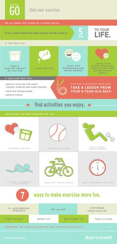 Find your exercise. | via @ParkviewHealth