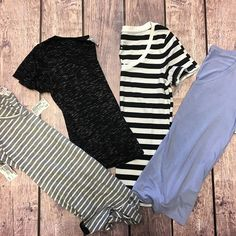 T-shirts are a great basic that everyone needs in their closet. {All Size M} {$3-$5} #tshirt #merona #forever21 #mossimo #basics #style #platoscloset #platosclosethenderson