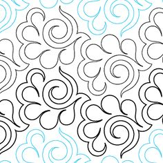 """Swirling Feathers - Paper - 8"""" - Quilts Complete - Continuous Line Quilting Patterns"""