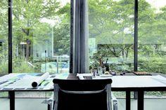 Peter Zumthors Desk in his Office in Haldenstein.Via.