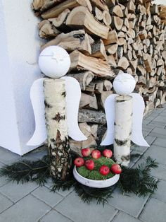 kudy-kam... Outdoor Christmas, Simple Christmas, Handmade Christmas, Christmas Crafts, Merry Christmas, Xmas, Christmas Angel Ornaments, Silver Christmas Decorations, Craft Show Ideas