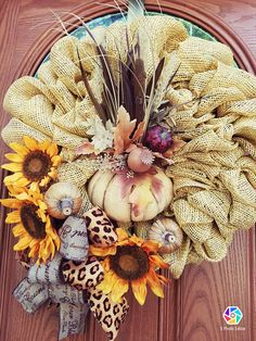 Fall Wreath Thanksgiving DecorFall Front Door Welcome