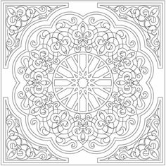 Arabic Floral Patterns Coloring Book by Elaine57