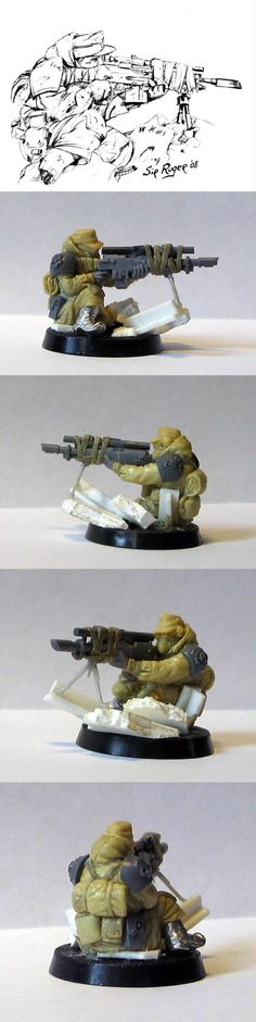 Imperial Guard, Sculpting, Snipers, Steel Legion - Steel Legion Sniper - Gallery - DakkaDakka | One Snotling on the Pump Wagon of the internet.