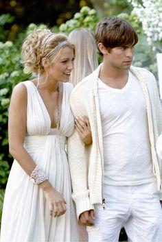 5. Fiesta de blanco, segunda temporada, Serena con un vestido de Oscar de la Renta.