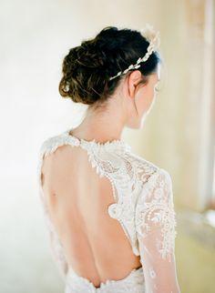 Wedding Dress: Inbal Dror - www.inbaldror.co.il/en Hair + Makeup: Amy Clarke - http://www.stylemepretty.com/portfolio/amy-clarke Photography: Jose Villa Photography - josevillablog.com   Read More on SMP: http://www.stylemepretty.com/2016/02/29/dreamy-lilac-blush-wedding-inspiration/