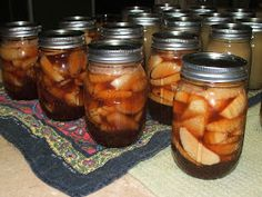 Canning Granny: Canning Apples in Cinnamon Syrup - A Welcome Announcement at Any Occasion