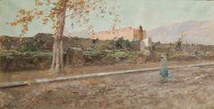 Dietro la Zisa (1911, olio su tela, 45x86 cm, collezione privata)