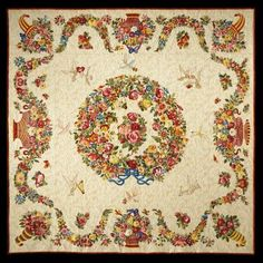 """""""Rita's Album of Roses"""", award winning quilt by Rita Verroca - all hand quilted and appliqued"""