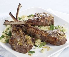 Lemon-Garlic Lamb Ch
