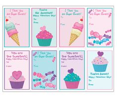 Cat lover? Cute Kitty Kids Valentine Cards Templates, printable ...