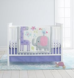 Baby Bedding Devoted New 7pcs Birdie Owlet Three Animals Embroidered Baby Cot Crib Bedding Set Quilt Bumper Sheet Skirt Cyan Color Yet Not Vulgar
