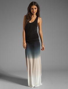 REVOLVE Hamptons dress in black sunset