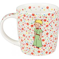 A beautifull The Little Prince porcelain mug decorated with red roses. Contains 380ml.