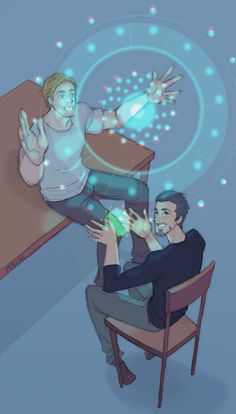 """""""tony knows his inventions are genius, but steve shows him how they're beautiful """" Amazing"""