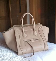 celine phantom luggage tote in taupe (slightly darker than this color